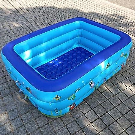 ZHANYIS Piscina Inflable Grande, los niños del hogar 1.5m Tres Capas de impresión Rectangular Piscina Inflable, tamaño: 150 * 110 * 50cm: Amazon.es: Hogar