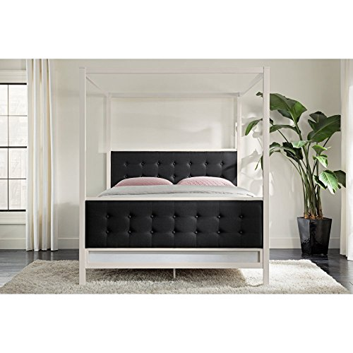 DHP Soho Canopy Bed - Queen (Upholstered Canopy Bed)