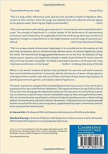 The Handbook of National Legislatures: A Global Survey: M. Steven ...