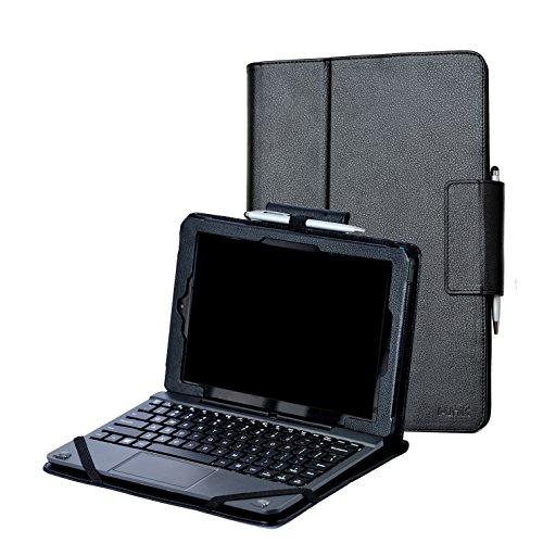 - i-UniK CASE for RCA 10 Viking Pro 10.1 & Compatible RCA 10 Viking II Tablet PC [Bonus Stylus] - (Black)