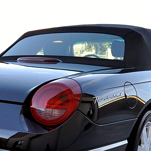 Ford Thunderbird Convertible Soft top With Heated Glass Window Black Stayfast Cloth (2000-2005)