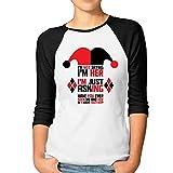 ATM3HAOJI Women's Harley Quinn 3/4 Sleeve Baseball T Shirts/Tee