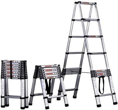 8HAOWENJU Escalera, Escalera de la extensión de la aleación de aluminio, Escalera del hogar, Escalera plegable de múltiples funciones de la ingeniería portátil, Escalera de elevación, Escalera plana: Amazon.es: Bricolaje y herramientas