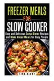 img - for Freezer Meals for Slow Cooker: Easy and Delicious Dump Dinner Recipes and Make Ahead Meals for Busy People (Slow Cooker & Freezer Meals) by Tina Berry (2015-12-11) book / textbook / text book