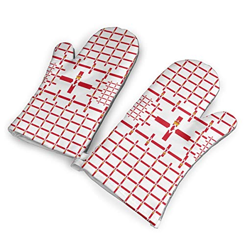 (ZORITO Northeen Ireland Oven Mitts - 1 Pair of Extra Long Professional Non-Slip Baking Gloves - Food Safe, Soft Inner)