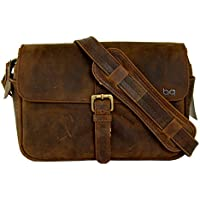 Basic Gear: Leather Camera Bag in Vintage Rustic Look for...