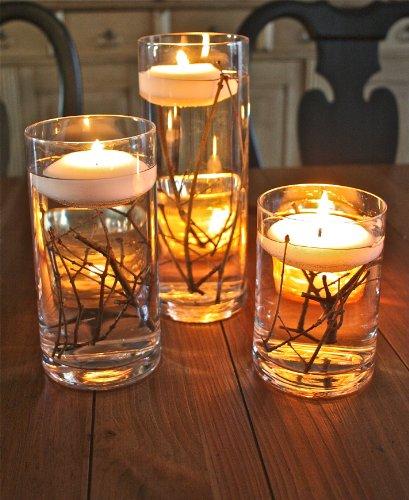 Amazon.com: Spring Rose(TM) 3 Inch White Wedding Floating Candles ...