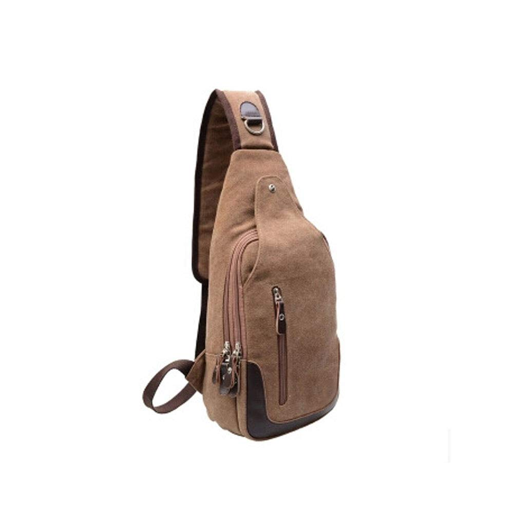 Messenger bag casual canvas sports bag travel pockets