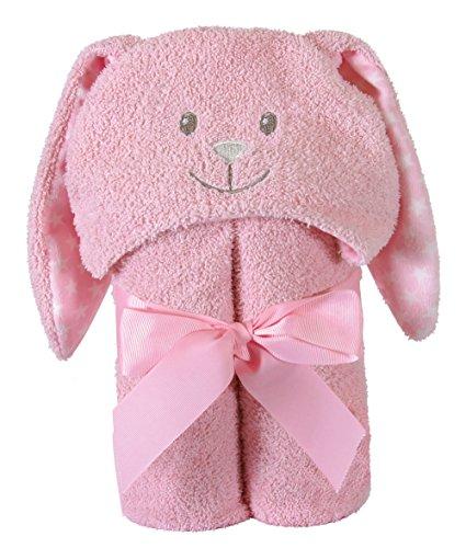 - Stephan Baby Terry Plush Hooded Bath Towel, Pink Bunnie, 0-24 Months