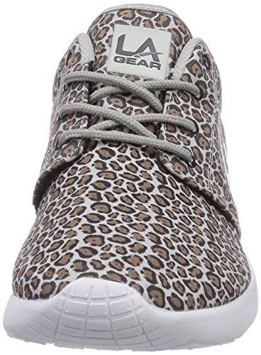 L.A. Gear Sunrise Damen Sneakers Grau (Grey-Taupe Leopard 02)