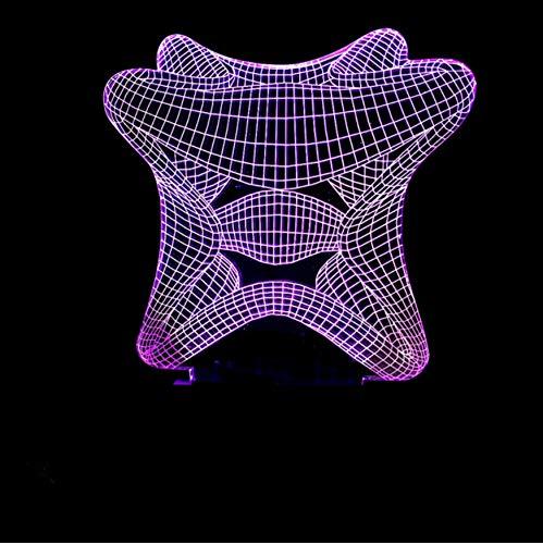 3D Led Abstraktion Starfish Tischlampe Schlafzimmer Leuchte 7 Farben Veränderbar Kreative Kind Schlafzimmer Nachtlichter Urlaub Geschenke