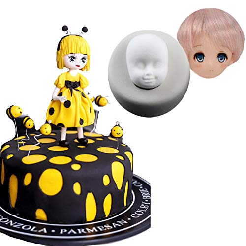 - Anyana barbie doll face mold Silicone Cupcake Baking Molds party Fondant molds cartoon Cake Decorating Tools Gumpaste Chocolate Candy Clay Moulds Non stick easy to use