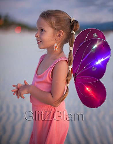 Dark Fairy Wings (Butterfly Wing / Fairy Wing Costume for Girls - Glow in the Dark)