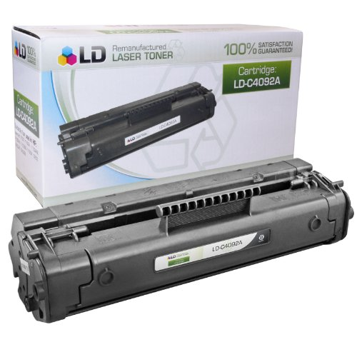 Replacement Laser Toner Cartridge for Hewlett Packard C4092A (HP 92A) Black (92a Laserjet)