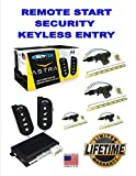 Car Alarm Security 4 After Market Door Locks, Keyless Entry 1-Way Fob Remote Start Scytek A4