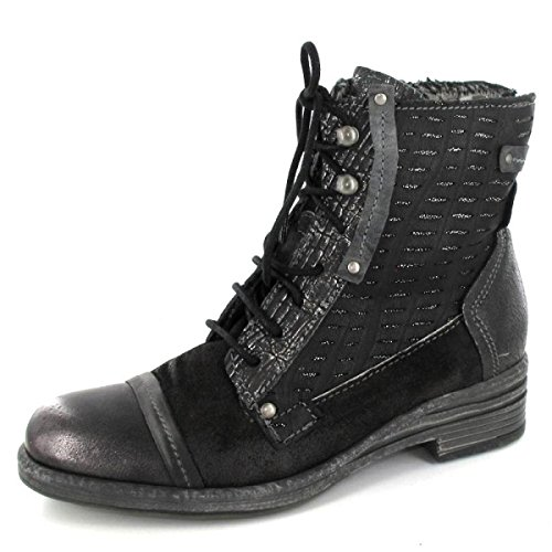 Charme Charme456-17 Comb D - Botas de Cordones Mujer negro