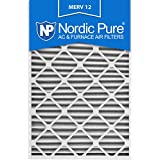 Nordic Pure 20x30x2 MERV 12 Pleated AC Furnace Air Filters, 20x30x2, 3 Piece