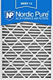 Nordic Pure 20x30x2M12-3 MERV 12 Pleated Air Condition Furnace Filter, Box of 3
