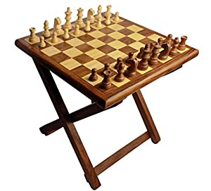 Christmas Gift/ Christmas Sale Crafts'man Folding wooden Table Chess made of Sheesham wood...