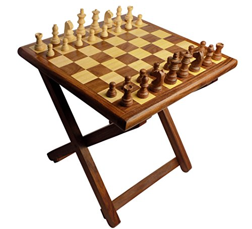 Crafts'man Folding wooden Table Chess made of Sheesham wood (Board Sale Chess Tables For)