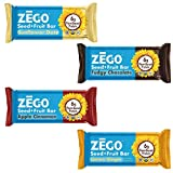 ZEGO Foods Seed + Fruit Bars Sampler Pack, Assorted Flavors, Organic Non GMO, Organic, Vegan, Gluten Free, 38g (Pack of 4 Bars) Review