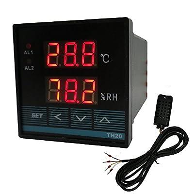 Qianson AC 85V~265V / DC 100~260V Digital Temperature Controller and Humidity Control Controller Relay Output With Sensor 110V 220V