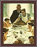 Freedom from Want 28x34 Large Walnut Ornate Wood Framed Canvas Art by Norman Rockwell