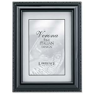 lawrence frames black wood 4x6 picture frame silver bead design single frames. Black Bedroom Furniture Sets. Home Design Ideas