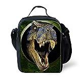 UNICEU T Rex Dinosaur Print Lunch Bag for Kids Boys Insulated Lunchbox Gourmet Lunchbag for School Picnic