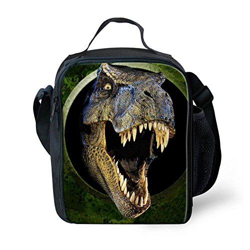 HUGS IDEA 3D Dinosaur Insulated Lunch Bag for Kids Boys Animal Printed Cool Child Lunchbox Tote Food Container Cooler Boxes