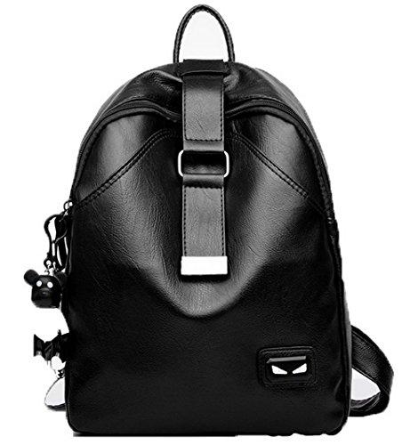 Daypacks GMBBB181006 Daypack à Mode dos Femme de AgooLar randonnée Cuir Noir Charmes Sacs Pu zgWWY8F