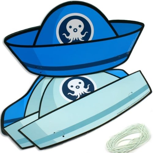 Pack Of 6 Blue Octonauts Card Hats - Party Products