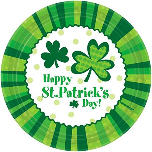 Amscam St Patrick's Day Cheer Round Plates (60 Per Pack), 9