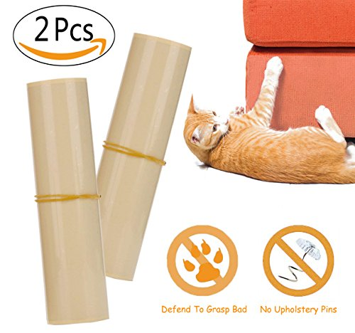 2 Pieces Pet Couch Guard, Furniture Protectors 20x8 inch With Self-Adhesive Pads To Avoid Pets Scratching or Clawing Cover To Protect The Upholstery, Walls, Mattress, Car Seat, Door by Ingotech
