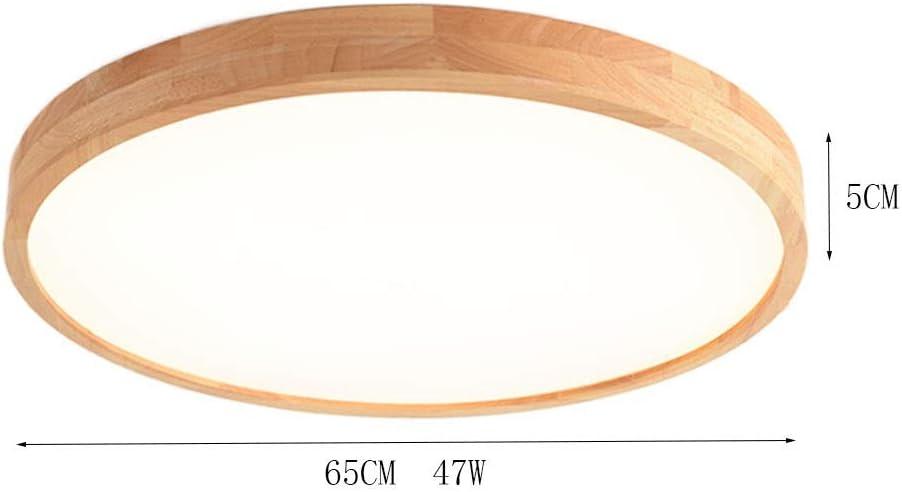 JDMYL Plafonnier en Bois Massif 5CM Ultra-Mince LED Plafonnier Rond Moderne Minimaliste en Ch/êne Plafonnier pour Salon Chambre Restaurant All/ée Et Autre /Éclairage Int/érieur