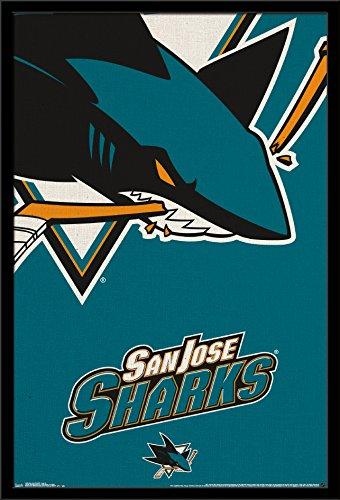 - Trends International Wall Poster San Jose Sharks Logo, 22.375 x 34