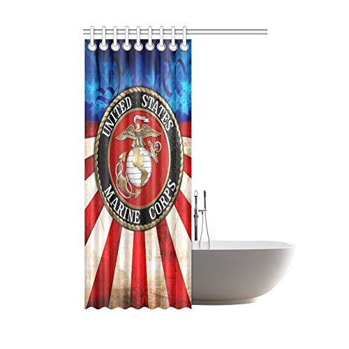 On Sale New Year Gifts Thanksgiving Day USMC United States Marine Corps Waterproof Bathroom Decor