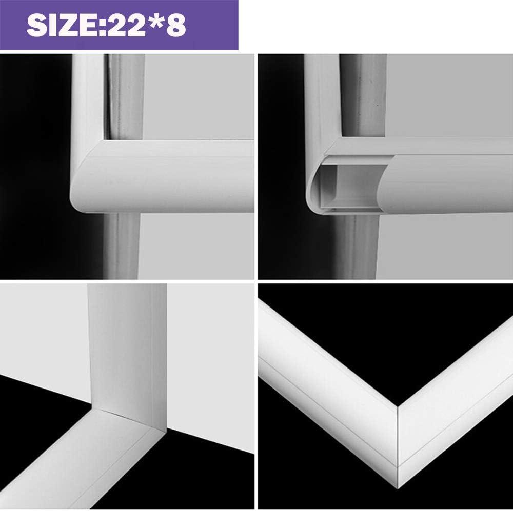 14 x 8 mm /à lint/érieur Conduit de C/âbles Blanc Conduit de C/âbles PVC auto-adh/ésif,Panneau de gestion de c/âbles,Organisateur pour c/âble L5 m W32*H10 mm