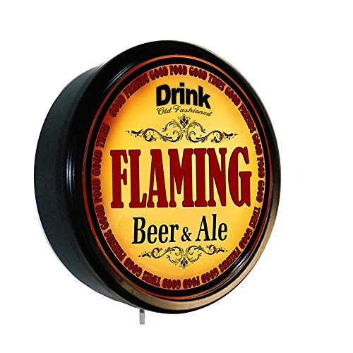 (FLAMING Beer and Ale Cerveza Lighted Wall Sign)