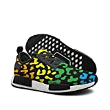 WhiteUnicorn Men's Colorful Leopard Print Sneakers Casual Running Shoes Outdoor Trainers
