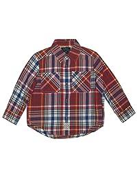 Polo Ralph Lauren Toddler Boys' Twill Plaid Sport Shirt, Red, 2T