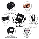 Manual Blood Pressure Cuff By Paramed – Professional Aneroid Sphygmomanometer With Carrying Case – Adult Sized Cuff – Blood Pressure Monitor Set With Stethoscope (Black)