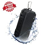 Woozik Wave Waterproof Bluetooth Speaker- Indoor/Outdoor, IPX6 Rating, Rugged Built with Aux, Microphone, and Long Battery Life