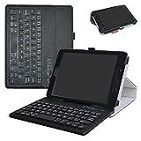 """ZenPad Z8s ZT582KL / Z8 ZT582KL-VZ1 Bluetooth Keyboard Case,Mama Mouth Slim Stand PU Leather Cover With Romovable Bluetooth Keyboard For 7.9"""" Asus ZenPad Z8s ZT582KL / Z8 ZT582KL-VZ1 Tablet,Black"""
