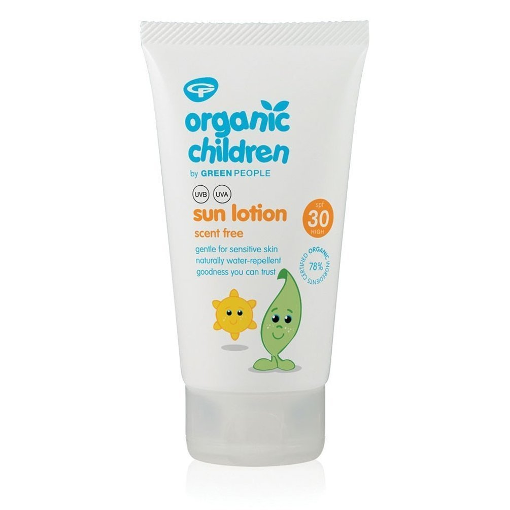 Green People Organic Children Sun Lotion SPF30 – Scent Free 150ml (Pack of 3) GREEN PEOPLE COMPANY