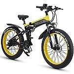 HUAKAI-Bici-Elettrica-Pieghevole-da-26Mountain-Bike-Elettrico-Fat-Bike-Ebike-1000w-48v-13ah
