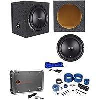 RE Audio SEX12D2 V2 SEXV2 12 750W Subwoofer+Sealed Box+Mono Amplifier+Amp Kit
