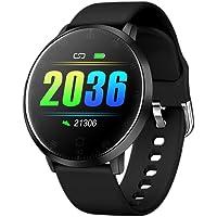 Redlemon Smartwatch Reloj Inteligente Deportivo con Monitor de Ritmo Cardiaco, Podómetro, Notificaciones de Mensajería y Redes, Pantalla Táctil, contra Agua, Compatible con iOS y Android, Modelo W20