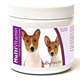 Healthy Breeds Dog Multivitamin and Supplement for Basenji - OVER 200 BREEDS - For Small Medium & Large Breeds - Easier Than Liquid or Powders - 60 Chews