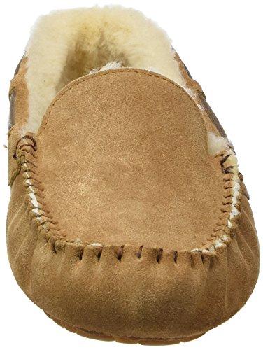 Shepherd STEFFO SLIPPER 21/13781 - Zapatillas de casa de cuero para hombre marrón - Braun (Chestnut 56)